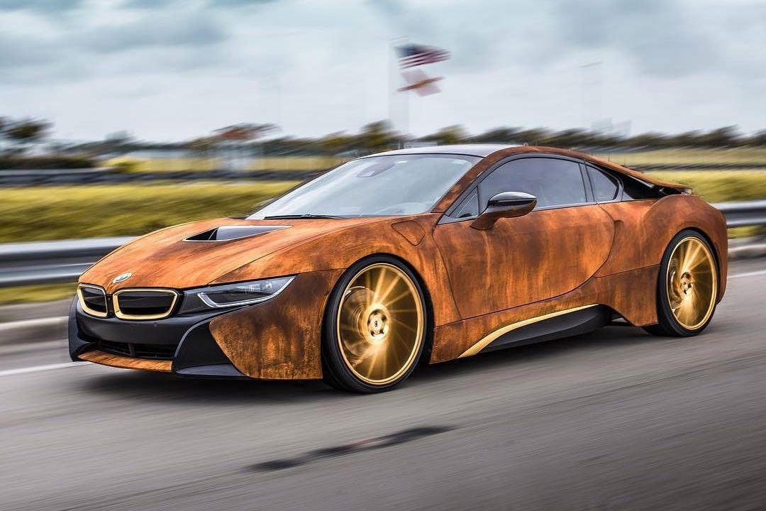 This Customized Bmw I8 Features A Rusty Exterior Steampunk