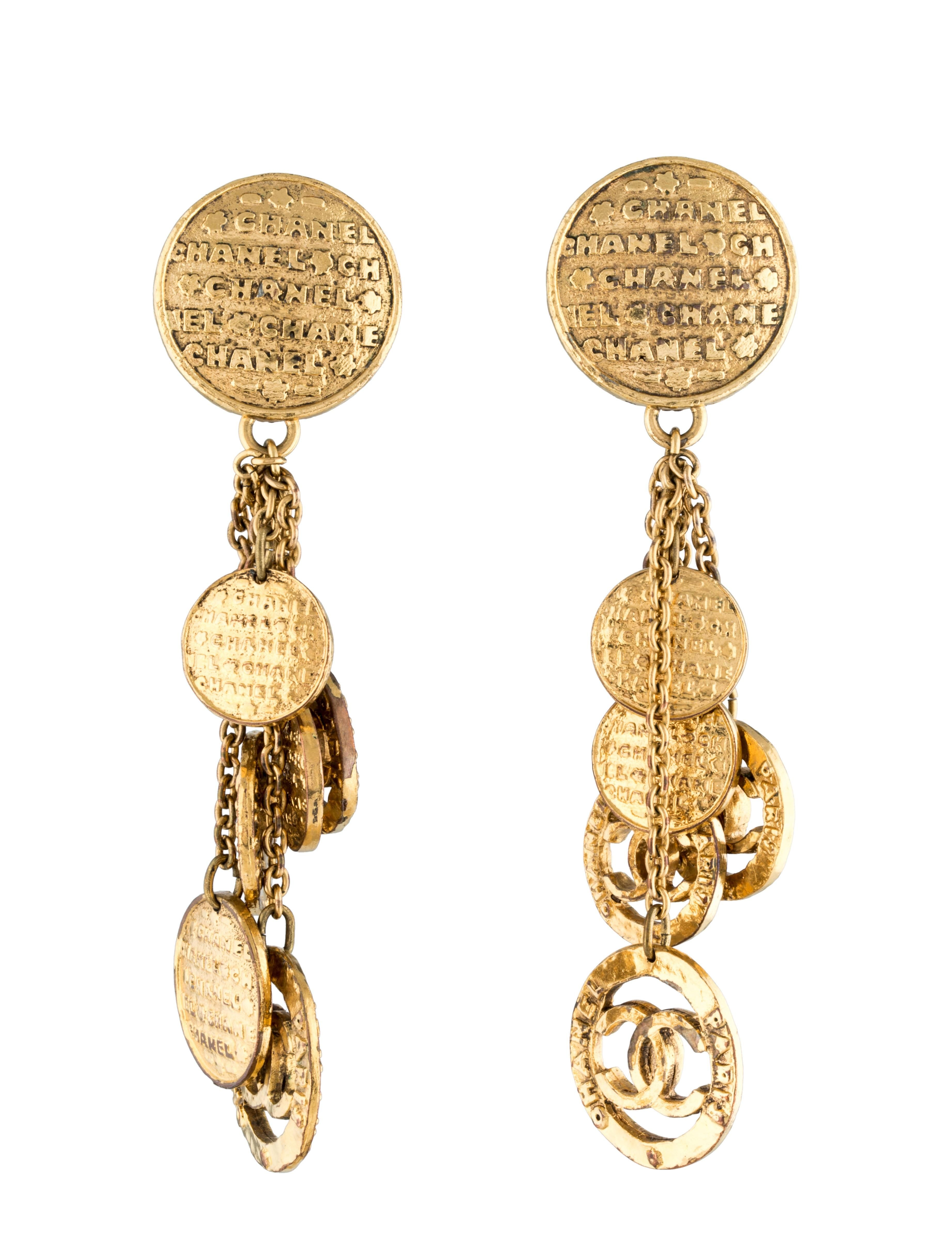 Vintage Chanel Cc Chandelier Earrings Free And Guaranteed Authenticity On