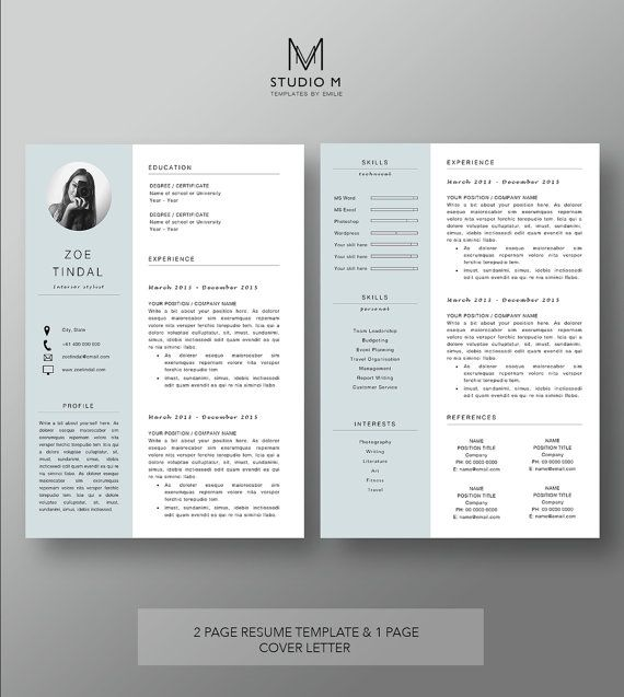If you want to stand out when applying for your dream job then - 2 page resume