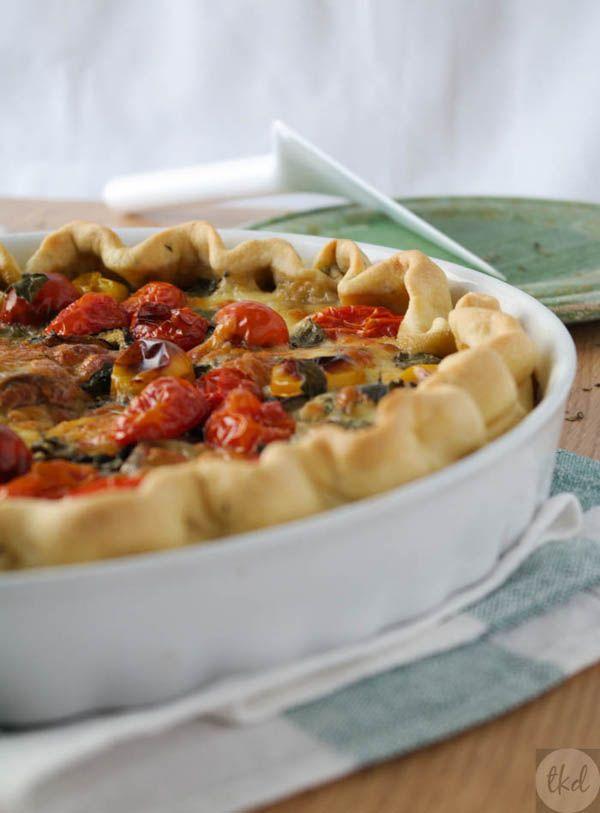 Eggplant, mozzarella & tomato #tart - theoDORA's kitchen diaries