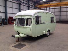 Vintage Cheltenham Sable Caravan With Awning Van Restoration