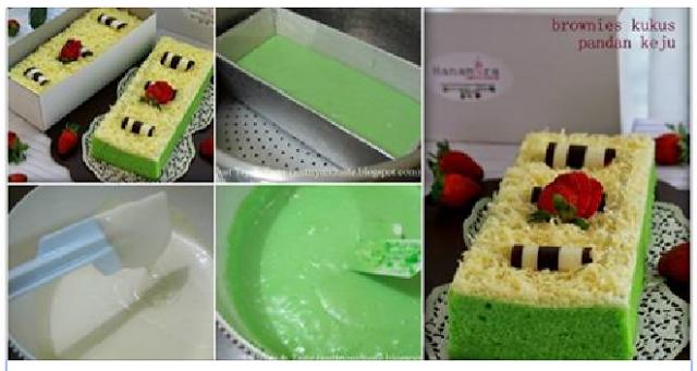 Resep Membuat Kue Brownies Keju Pandan Kukus Ny Liem Memang Anti Gatot dan Endasss Banget !!   Bagikan Resep Ku