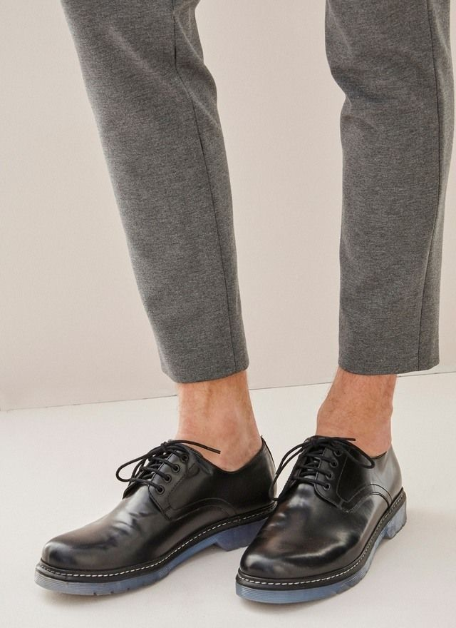 Suela Caballero Mens Con TransparenteCalzado Piel Zapato De txsCQrdh