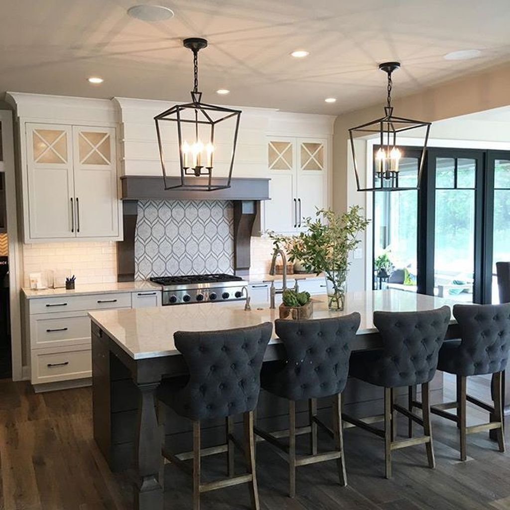 34 Stunning Black Kitchen Island Ideas Black Kitchen Island Island Chairs Kitchen Island Design