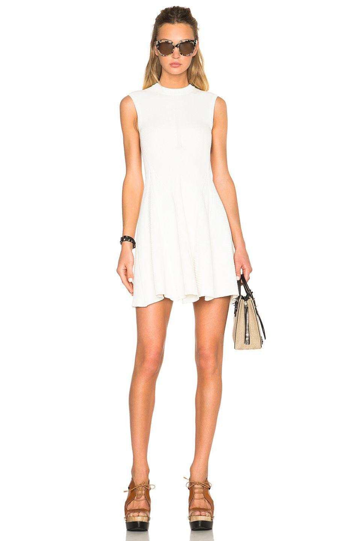 Victoria Beckham Cotton Rib Corset Mini Dress In White Mini Dress White Dress Corset Mini Dress [ 1440 x 953 Pixel ]
