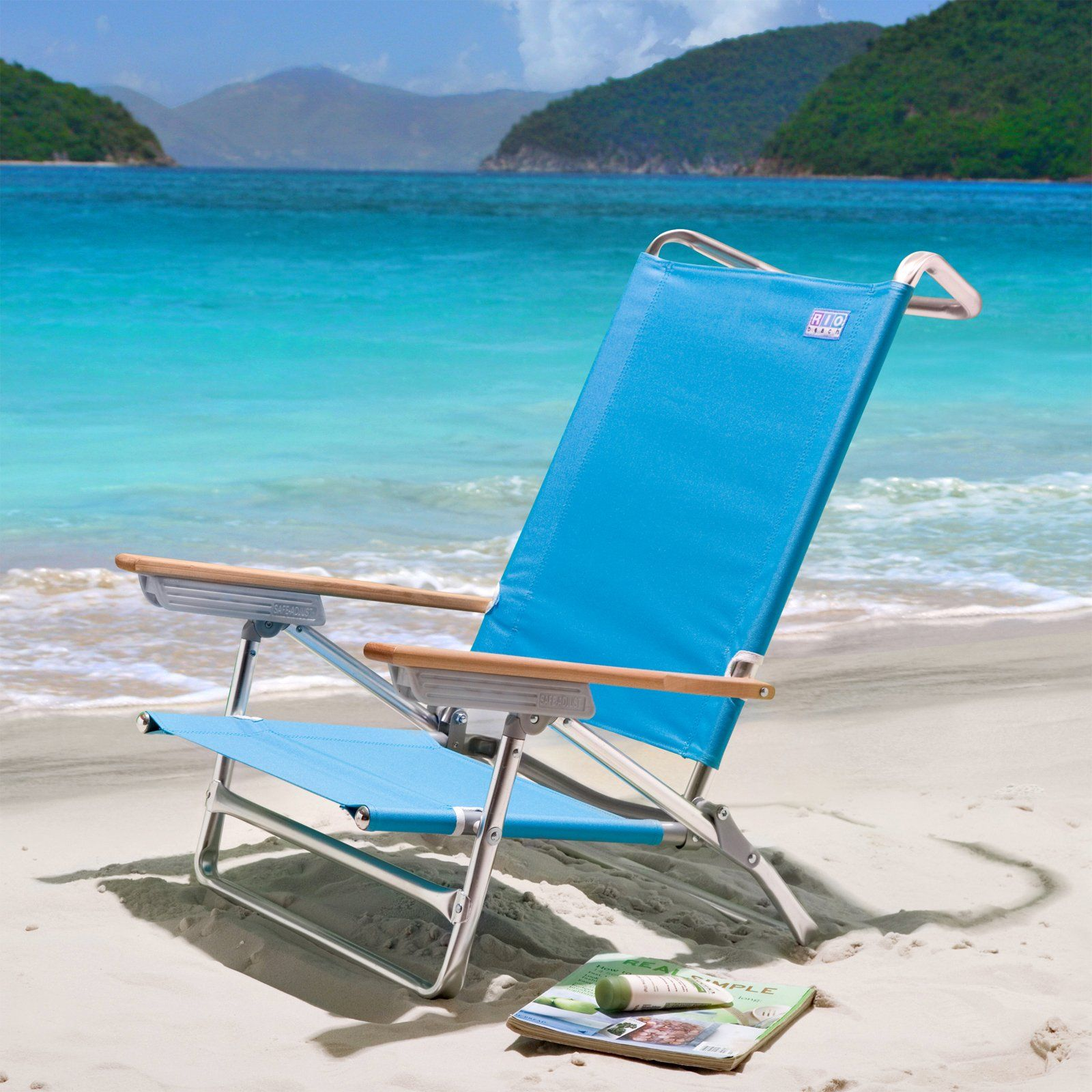 Rio Turquoise Deluxe Sand Beach Chair