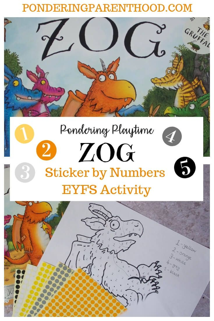 Pondering Playtime Zog Sticker By Numbers Turrets And