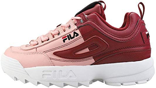 Femmes Disruptor Ii Pink Fila Red Split Baskets 6 White Uk Premium q61PPwFI