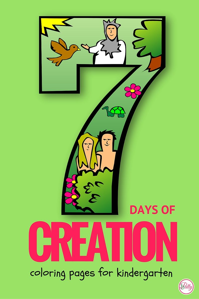 7 Days Of Creation Coloring Pages | Pinterest | Bible crafts, Sunday ...