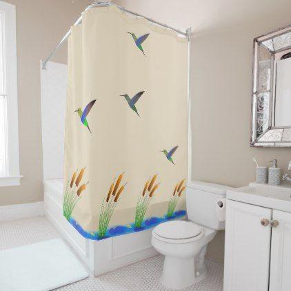 Shower Curtain Hummingbirds