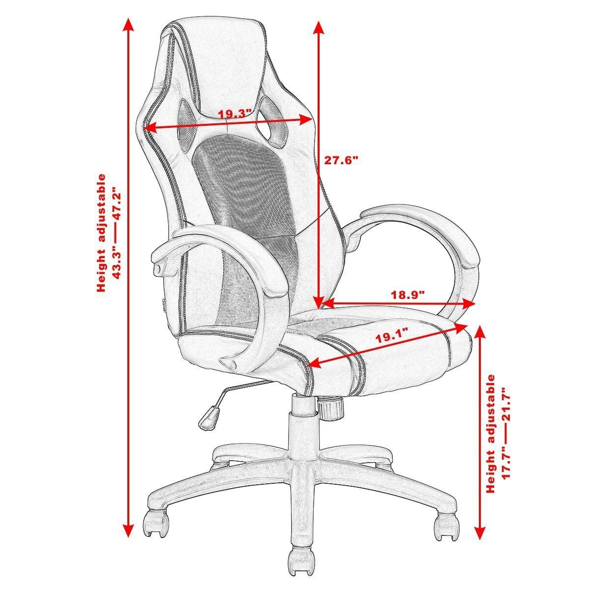 Swell Giantex Gaming Chair Racing Chair High Back Bucket Seat Ocoug Best Dining Table And Chair Ideas Images Ocougorg