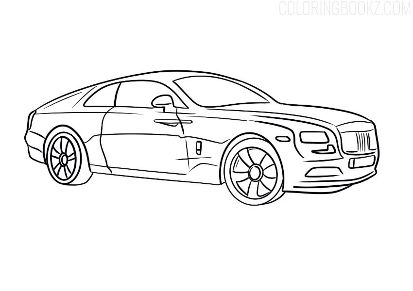 Rolls Royce Wraith Coloring Page Coloring Books Rollsroyce Rr Rollsroycecoloring Rollsroycecoloringpage Ro Rolls Royce Wraith Coloring Pages Rolls Royce