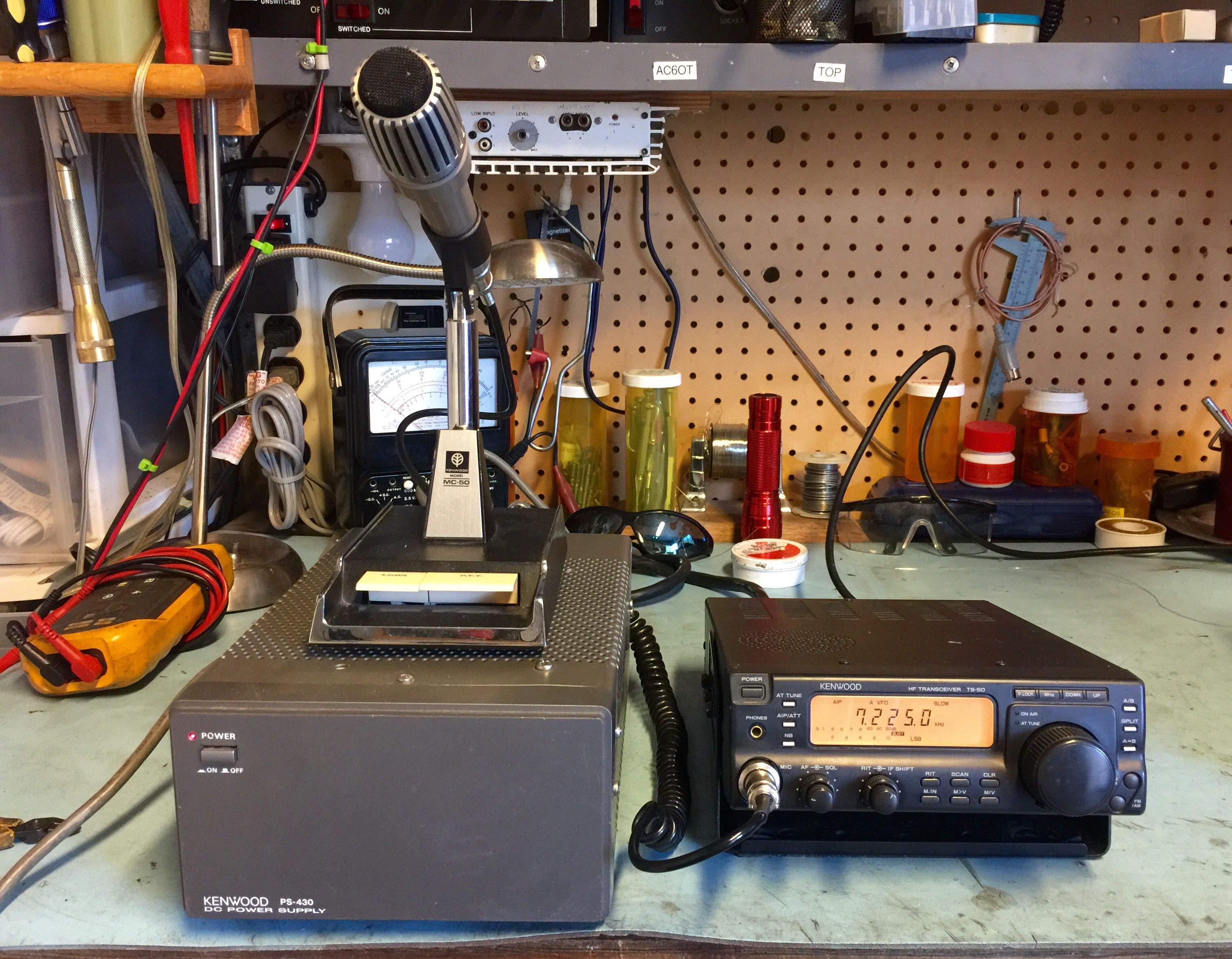 kenwood ts 50 rig mc50 mike and matching power supply  [ 3049 x 2373 Pixel ]
