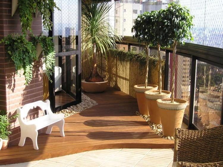 Brise vue balcon avec plantes: protegez vous regards curieux ...