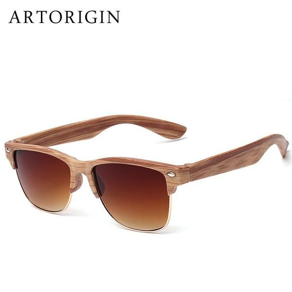3b784b4a6a ARTORIGIN Half Frame Wood Color Sunglasses Really good quality Material  Plastic