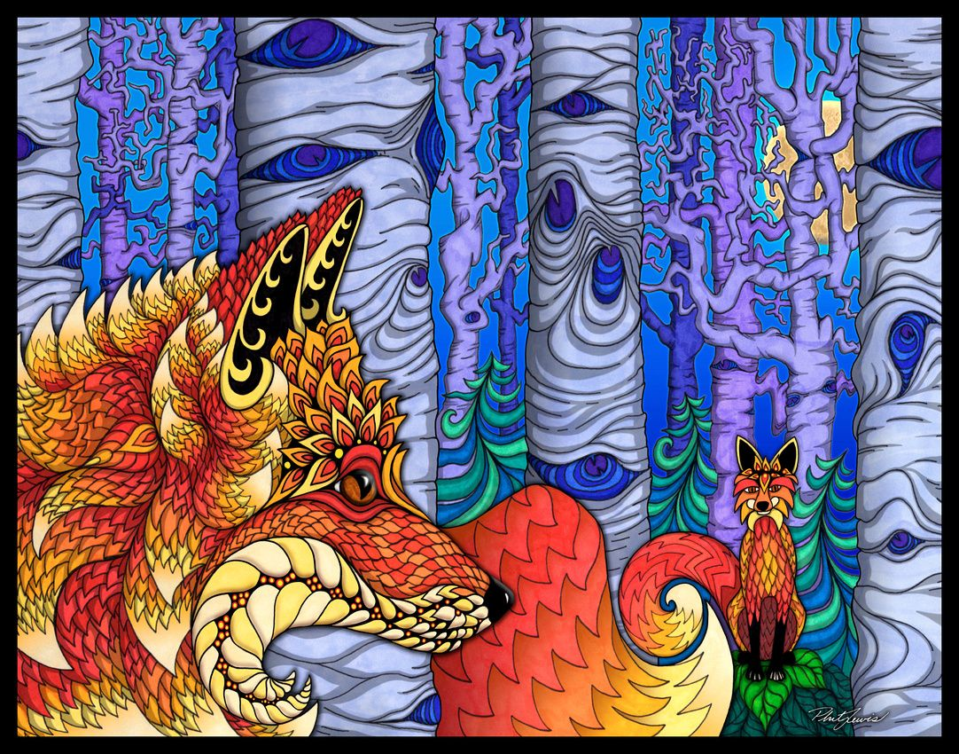 phil lewis art coloring books for adults : Arte Psicodelico Phil Lewis I Foxy Phil Lewis Art Coloring Books For Adults