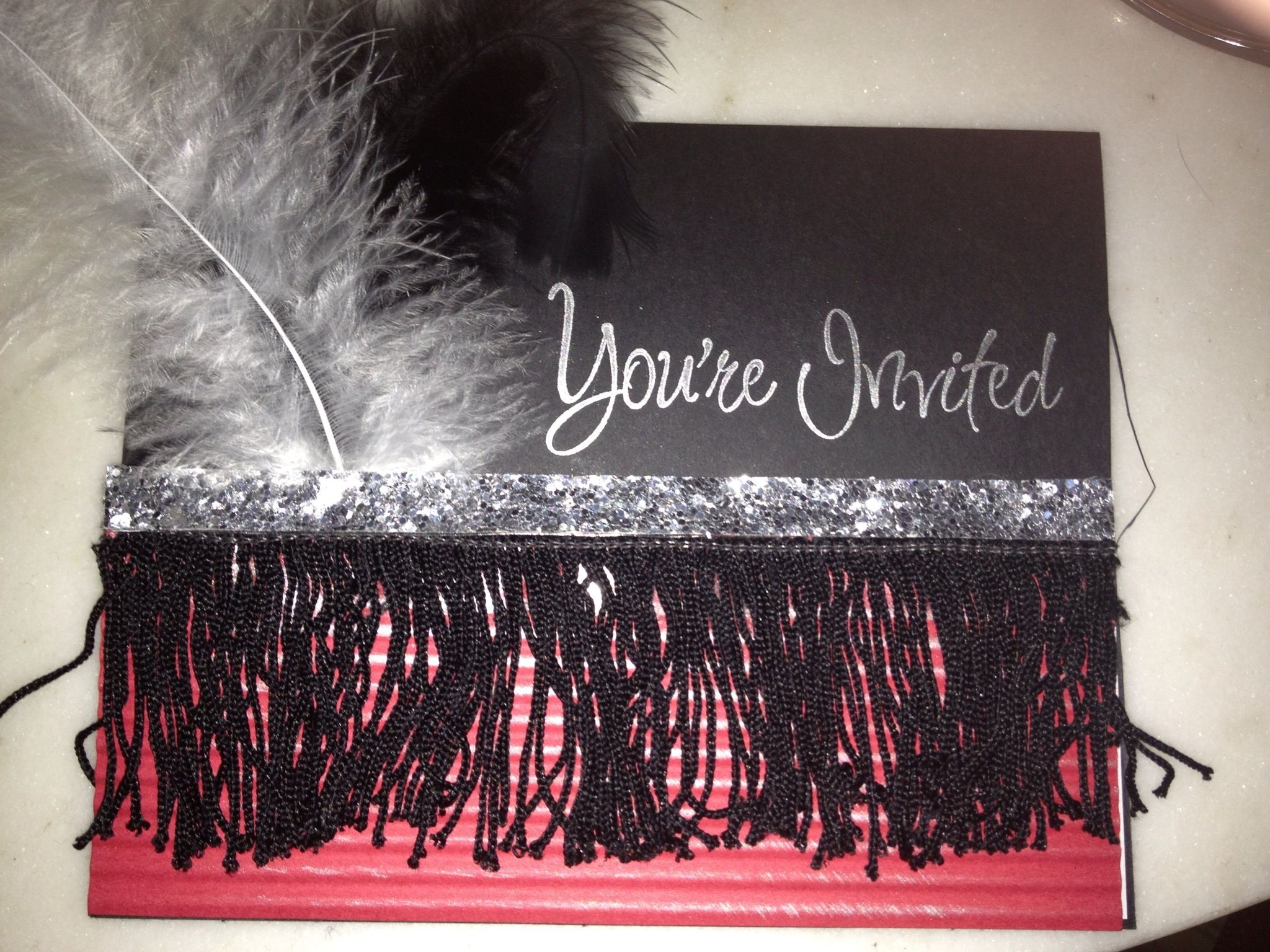 Invitation with a Roarin\' 20s or Great Gatsby theme | Great Gatsby ...