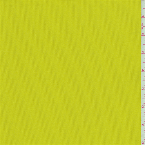 Citron Green Polyester Activewear Patchwork fabric