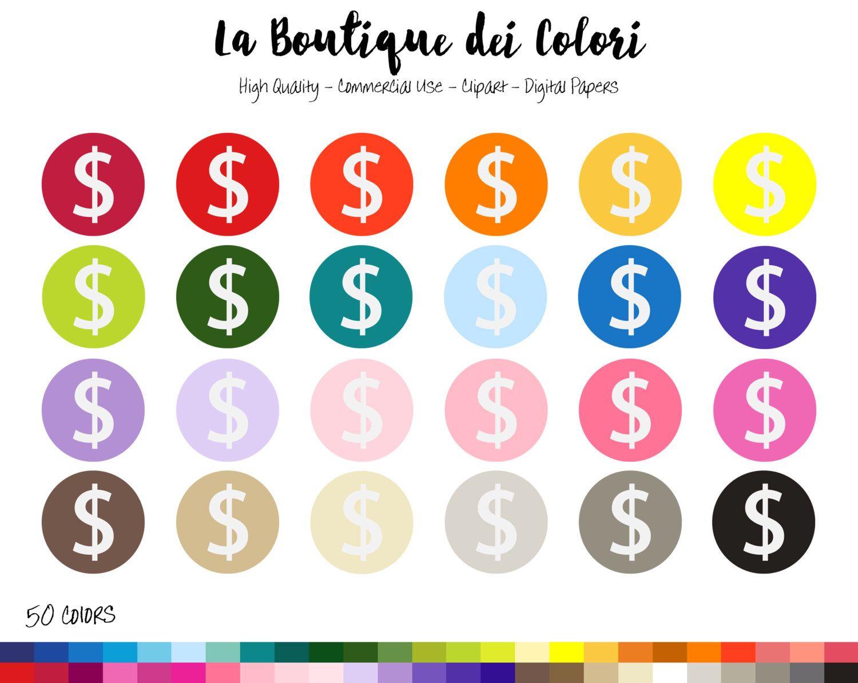 hight resolution of 50 rainbow circle dollar sign clip art digital illustrations png money clipart dollar symbol