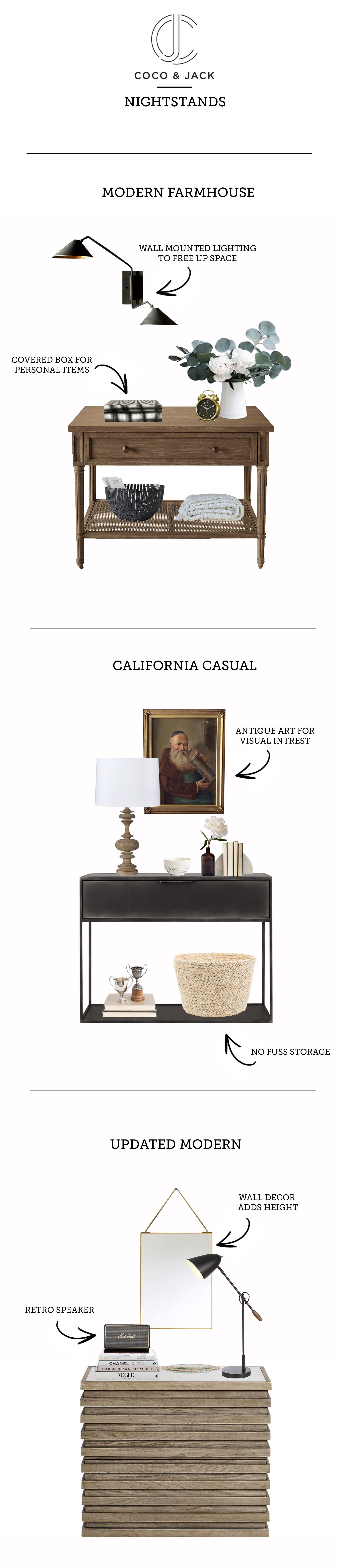 Best Get The Look Nightstands Modern Farmhouse Design Home 400 x 300