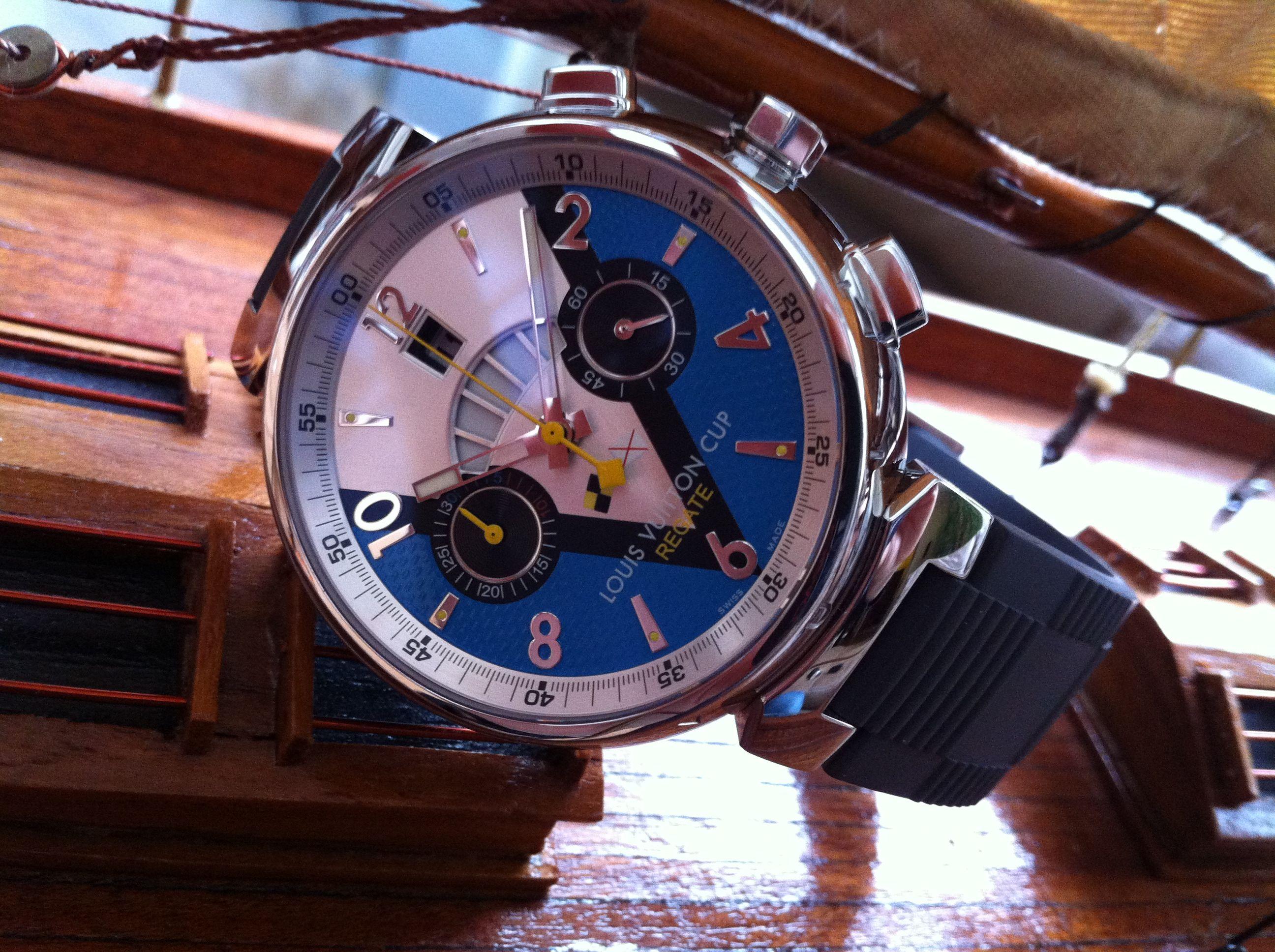 Tambour Louis Vuitton Cup Régate chronograph - Movement Dubois-Dépraz LV171 - 2007