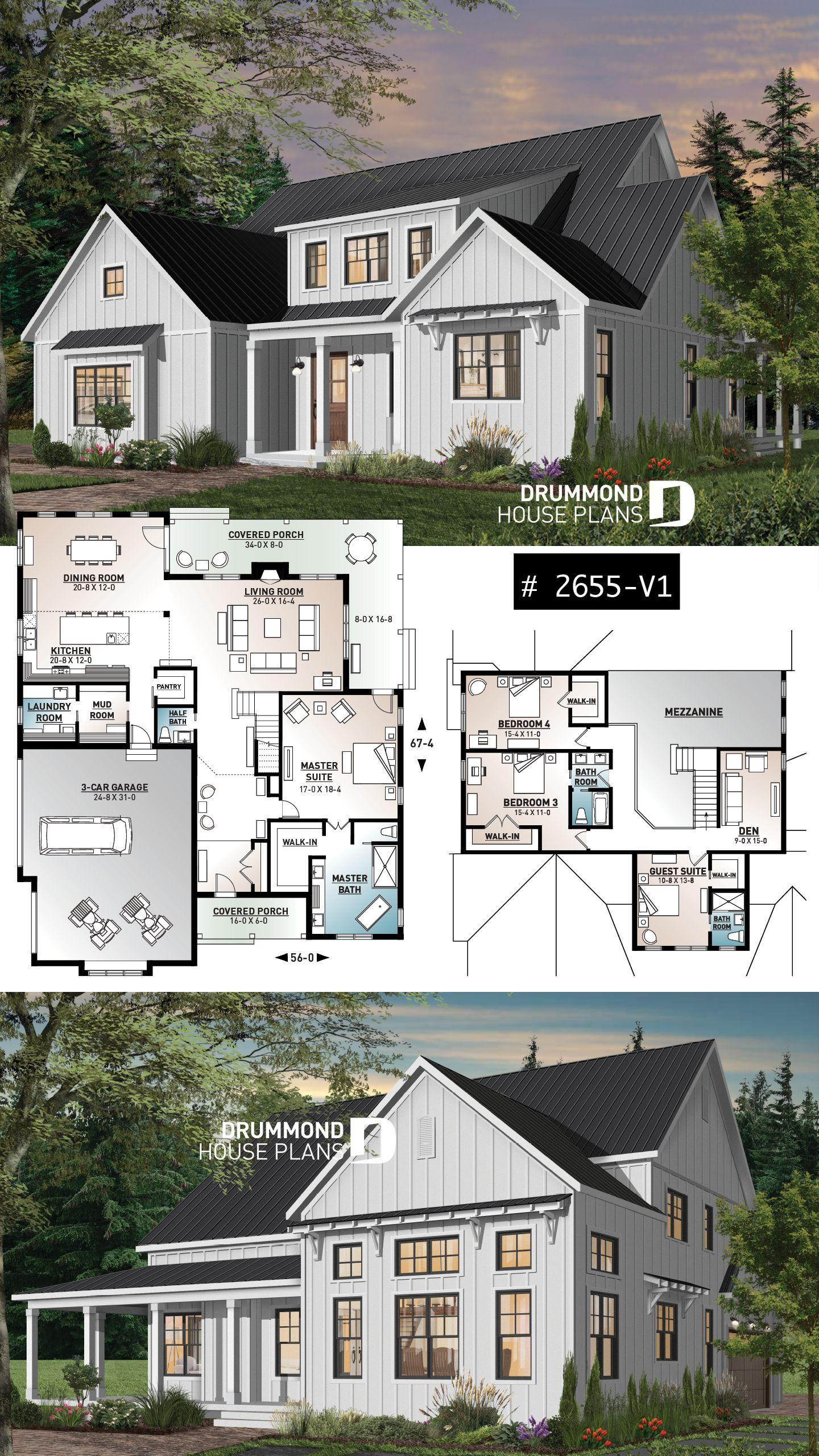 4 bedroom modern farmhouse in 2020 modern farmhouse