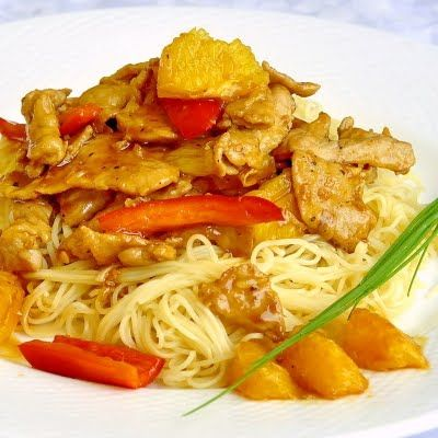 Spicy Honey Orange Sliced Pork - another quick and easy workday dinner with a sweet spicy kick...