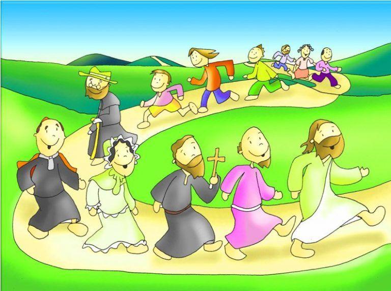 Jesus Caminando Con Los Ninos Dibujos De Jesus Catolico Catequista
