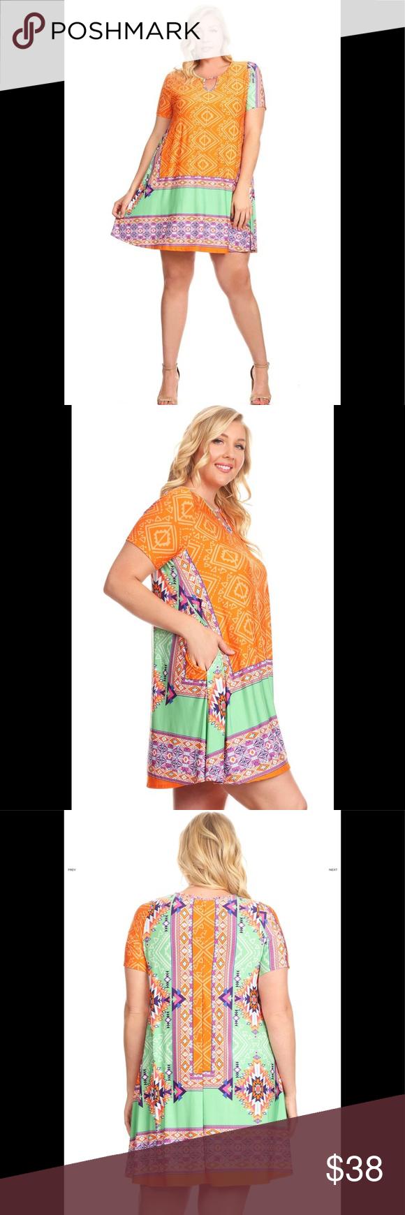 Multicolored border print fun summer dress boutique in my