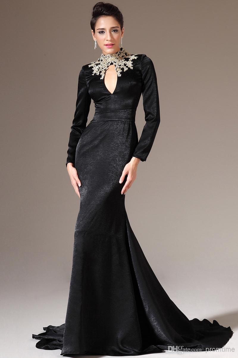 Black Long Sleeves Formal Dresses | Formal Dresses | Pinterest ...