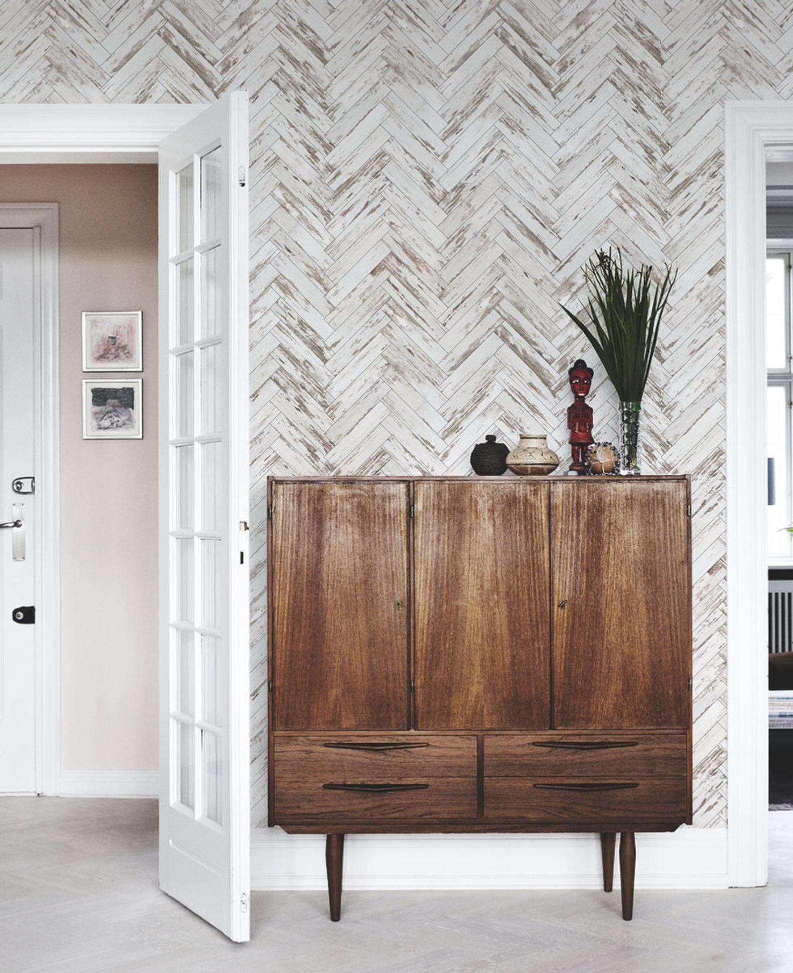 Wood Removable Wallpaper Vintage Chevron Herringbone Wall Etsy Herringbone Wall Removable Wallpaper Wooden Wallpaper