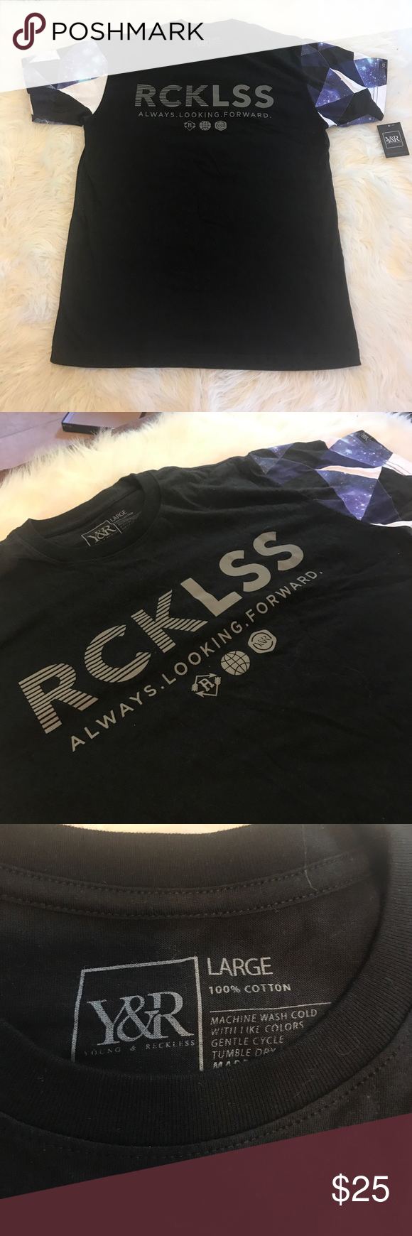 Young & reckless graph tee NWT | Reckless shirts, Tees