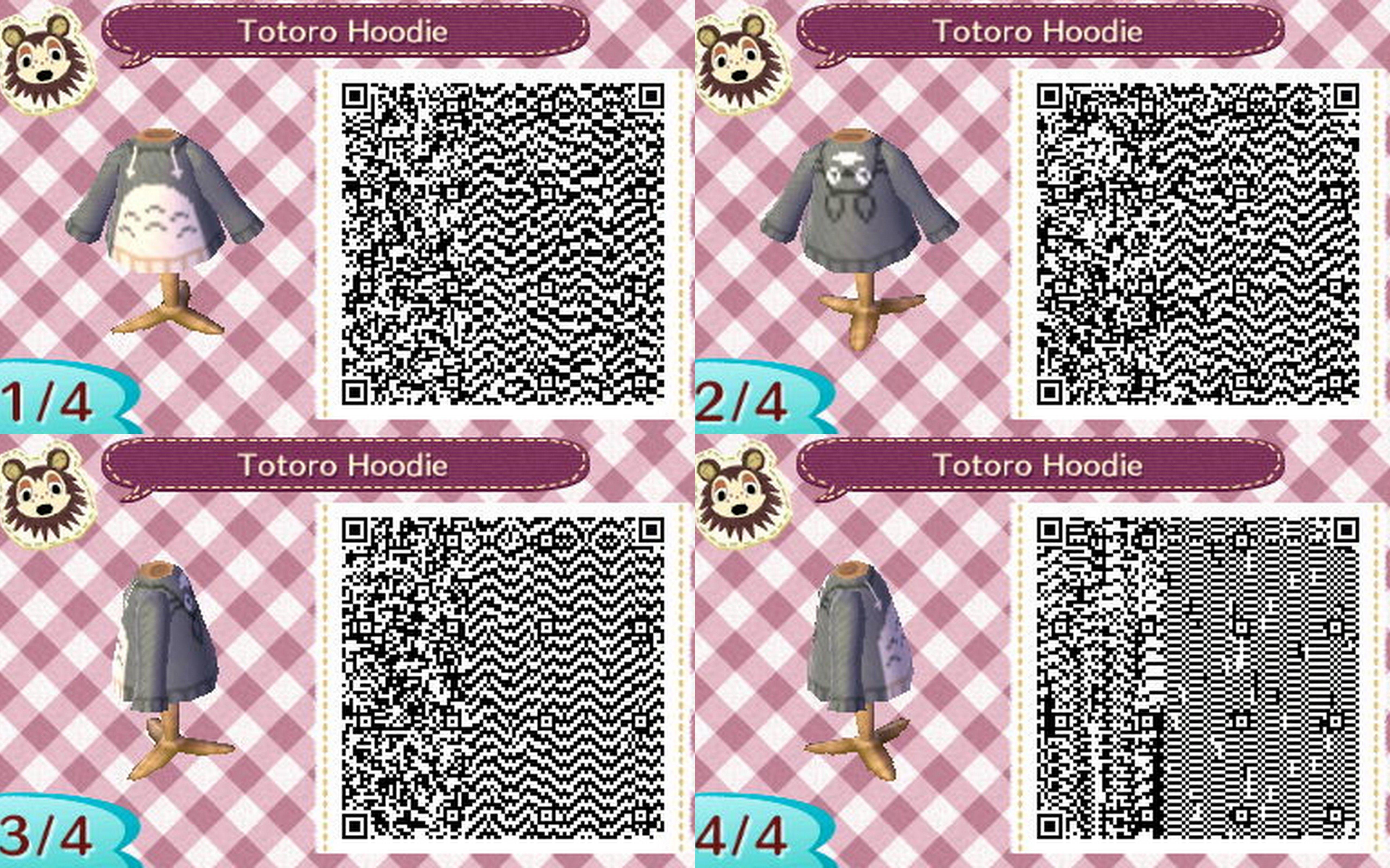 Animal crossing new leaf hoodie Clothes Animal Crossing Totoro Hoodie Qr Pinterest Animal Crossing Totoro Hoodie Qr Happy Home Qr Codes Pinterest