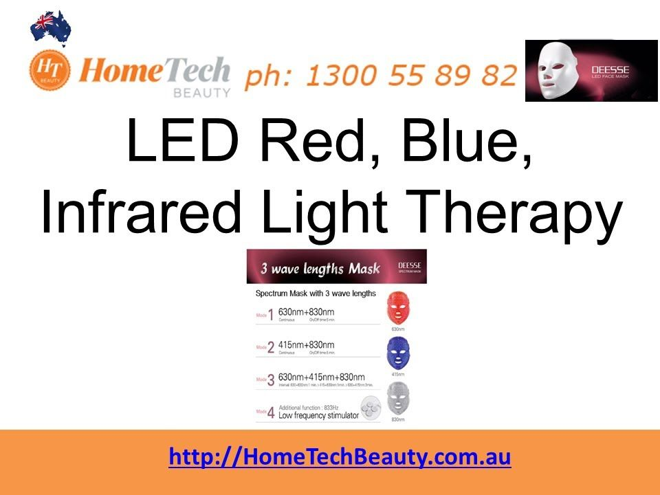 LED Red Blue Infrared Light Therapy http://www.hometechbeauty.com.au ...