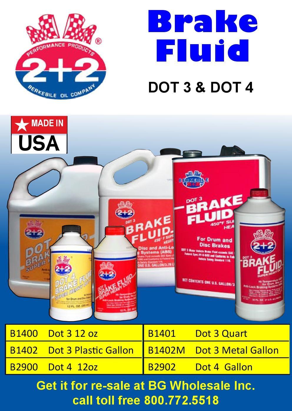 Berkebile 2+2 Brake Fluid  Dot 3 and Dot 4 | Brake Fluid