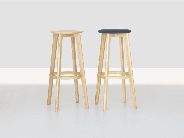 High wooden stool 1.3 bar 1.3 collection by zeitraum design kihyun