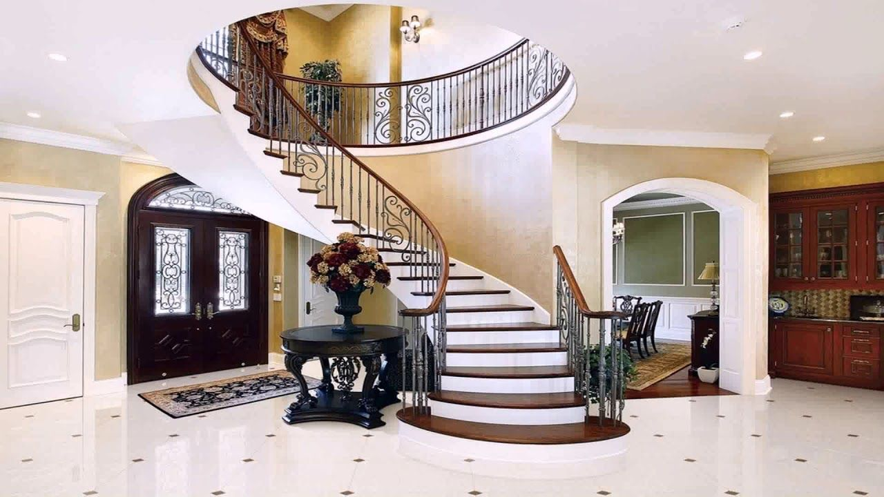 Interior Staircase Design In Main Hall For Duplex House Foyer   Staircase Design For Duplex   Living Room   Villa   Indian   Modern   Flat