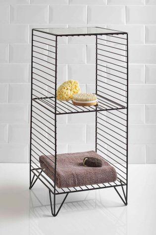 Buy Black Wire Storage Unit From The Next Uk Online Shop Bathroom Storage Units Wire Storage Black Ladder Shelf