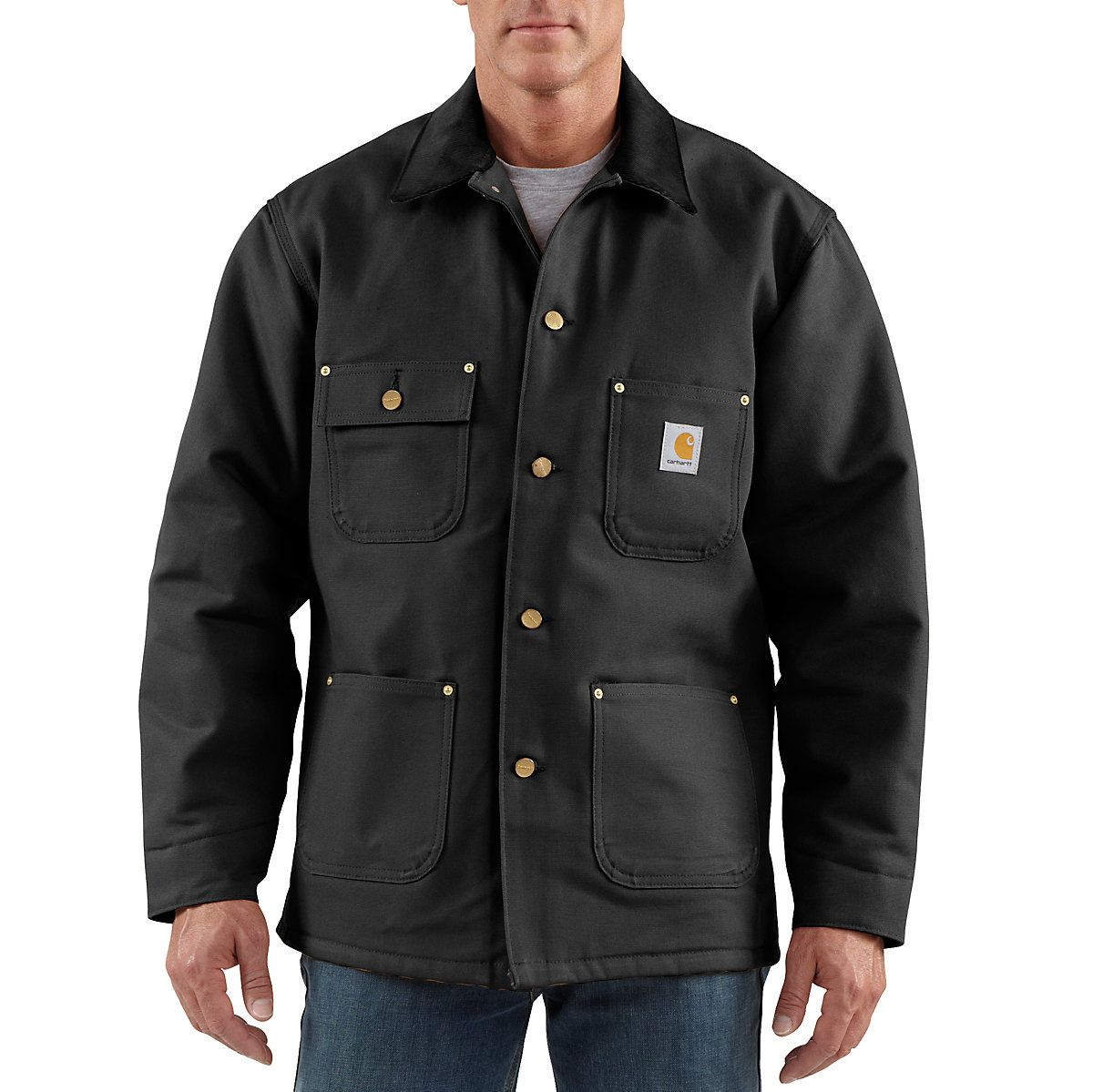 Men 39 S Water Repellent And Wind Resistant 12 Oz Firm Hand Duck Carhartt 39 S Most Iconic Style Chore Coat Carhartt Jacket Chore Coat Men [ 1199 x 1200 Pixel ]