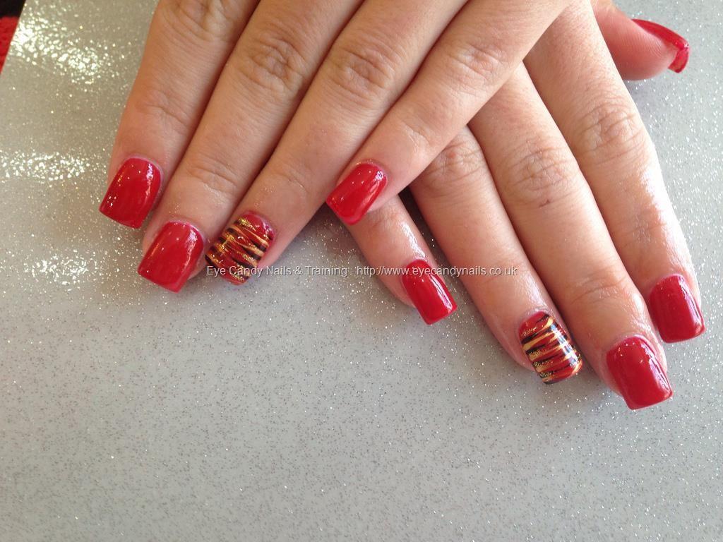 Acrylic+nails+a+kiss+in+Paris+red+gel+polish | Nails | Pinterest ...