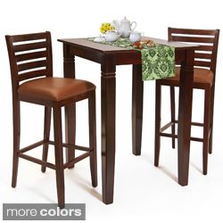 Attractive Italy Bar Table And Stools 3 Piece Set