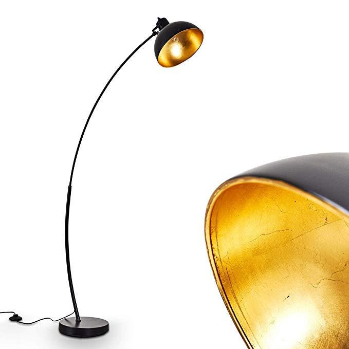 Stehlampe Standleuchte Stehleuchte Bodenlampe Edelstahl Textilschirm