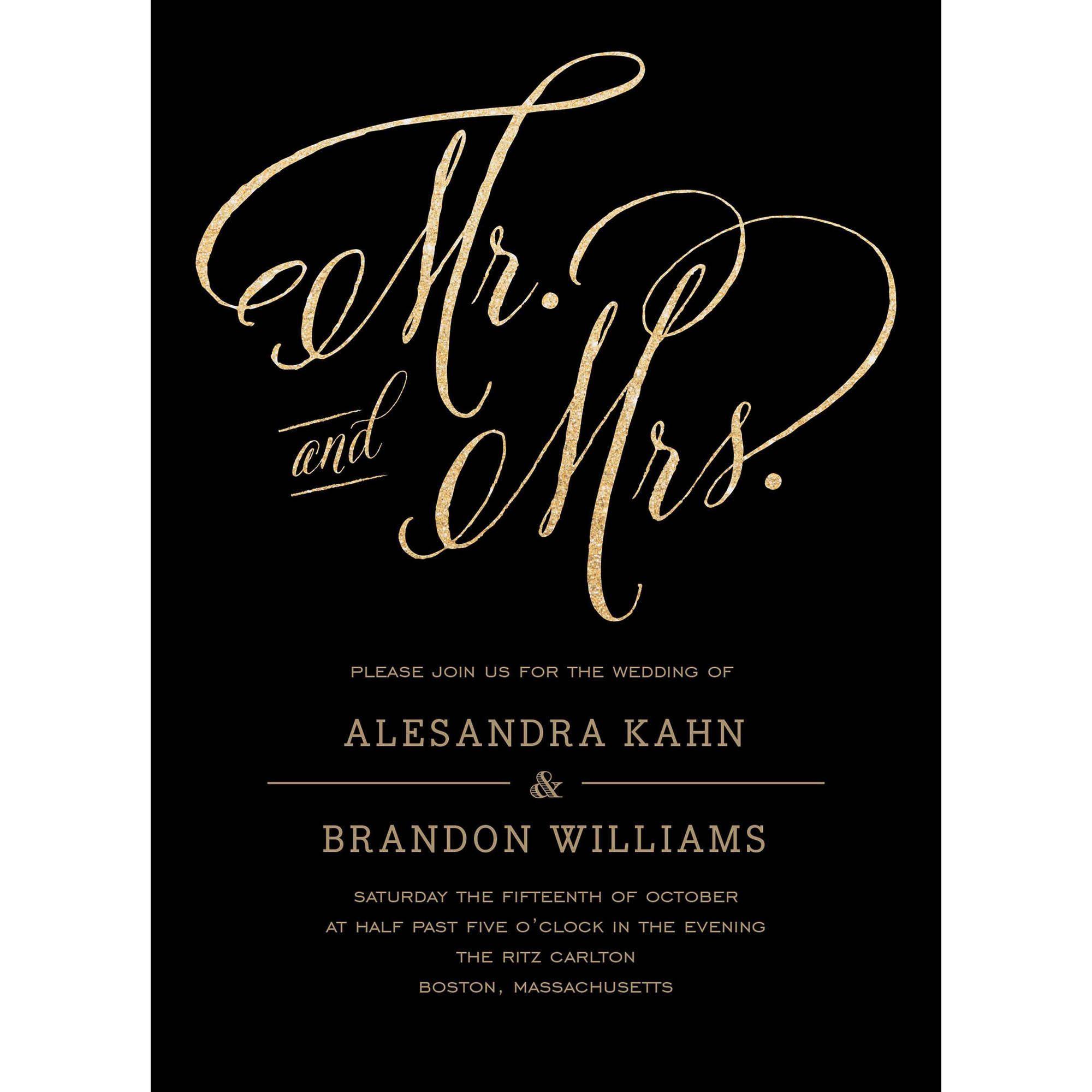 Mr And Mrs Standard Wedding Invitation Walmart Com In 2021 Cheap Wedding Invitations Wedding Invitations Bridal Shower Invitations