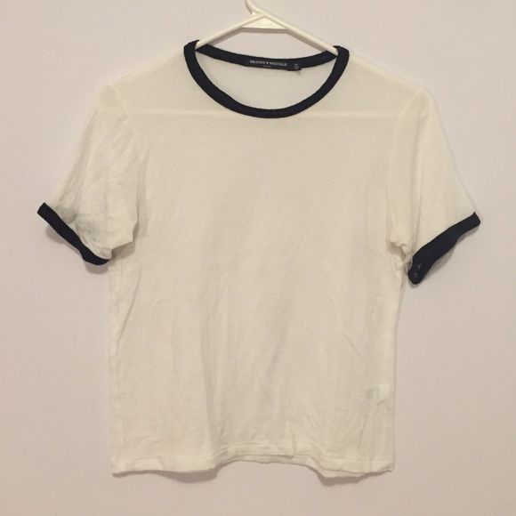 White t shirt Super soft Brandy t shirt with black lining. Great ...