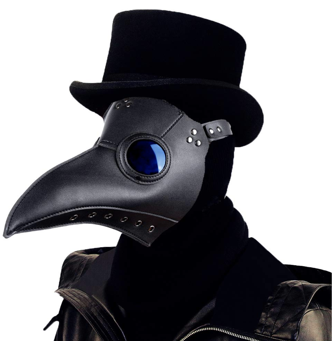 A Plague Mask Because Look At This It S Terrifying In 2021 Plague Mask Black Plague Mask Black Plague Doctor Mask
