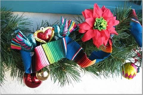 Christmas Wreath Holiday Decor Mexican Christmas Wreath Corn Husk Wreath Christmas Wreath Mexican Ornaments Mexican Christmas