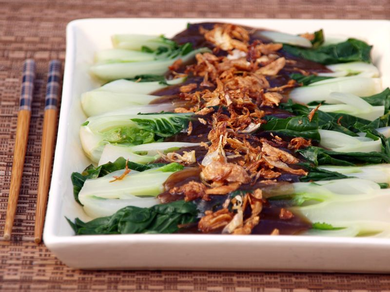 Bok coy in oyster sauce is a very popular vegetable side dish in bok coy in oyster sauce is a very popular vegetable side dish in chinese cuisines it is usually served as an accompaniment to dishes like roast pork forumfinder Gallery