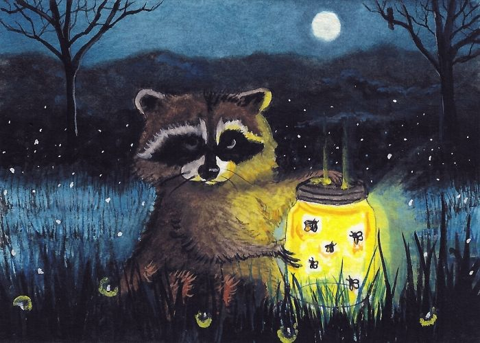 Nightlite ~ racoon