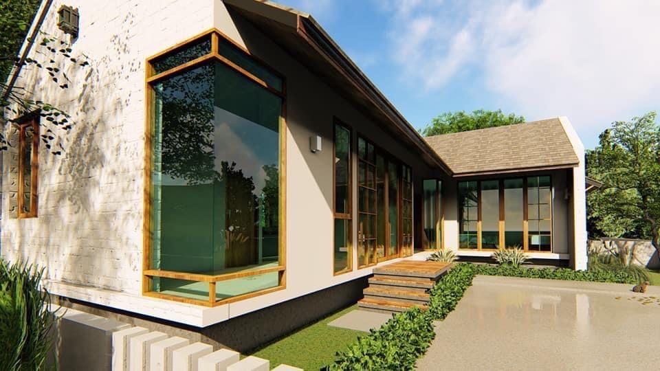 Corner Glass Window In 2020 House Styles Beautiful Homes House
