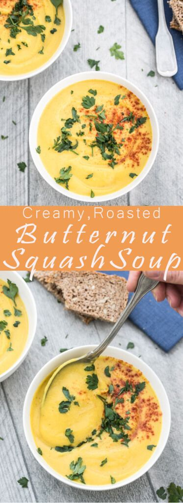 Healthy Roasted Butternut Squash Soup Recipe